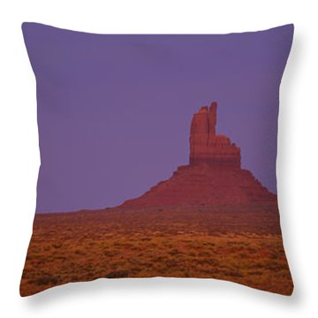 Moon Shining Over Rock Formations Throw Pillow by Panoramic Images