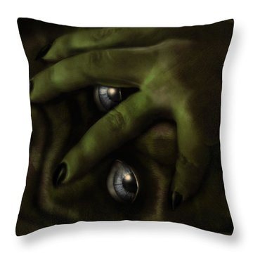 Moon Sickness Throw Pillow by Jeremy Martinson