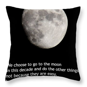 Moon Speech Throw Pillow by Kenny Glotfelty