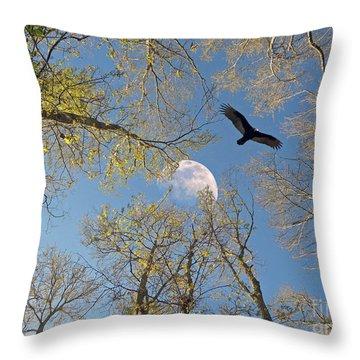 Throw Pillow featuring the photograph Moon Trees by Savannah Gibbs