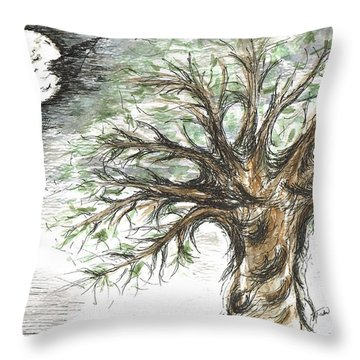 Moon Whisper  Throw Pillow by Teresa White