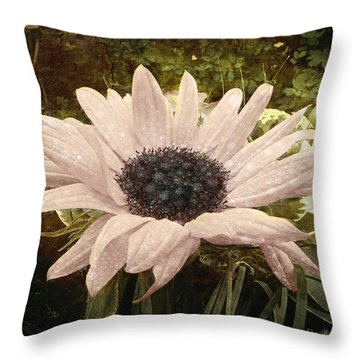 Throw Pillow featuring the digital art Moonflower by Barbara Orenya