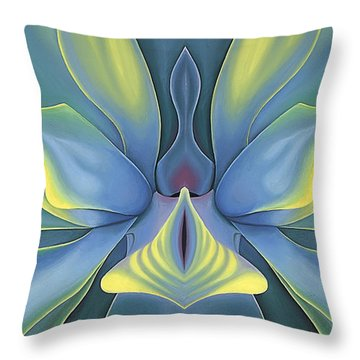 Moonflower Magic Throw Pillow by Tiffany Davis-Rustam