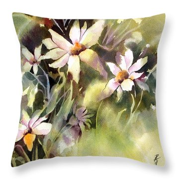 Throw Pillow featuring the painting Moonglow by Rae Andrews