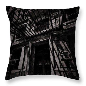 Moonin Munster Manor Throw Pillow by Robert McCubbin