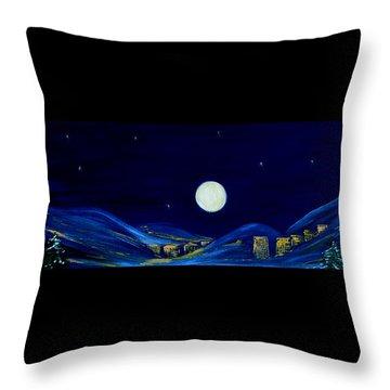 Moonlight 2013. Inspirations Collection Throw Pillow by Oksana Semenchenko