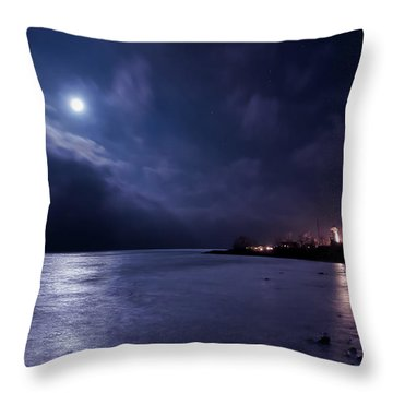 Moonlight Bay Throw Pillow