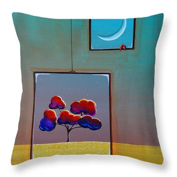 Moonlight Throw Pillow by Cindy Thornton
