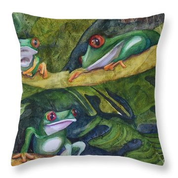 Moonlight Crooners Throw Pillow