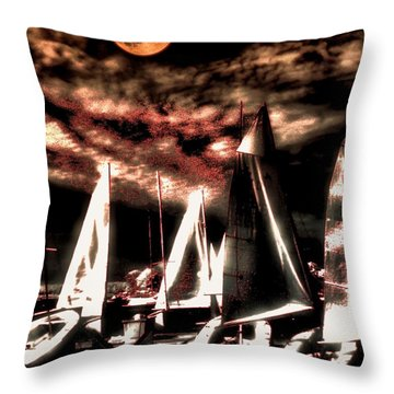 Throw Pillow featuring the tapestry - textile Moonlight Cruise by Robert McCubbin