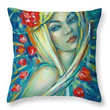 Moonlight Flowers 030311 Throw Pillow
