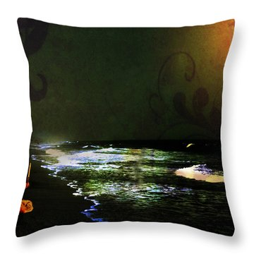 Moonlight Gives Girl Hope In The Darkness Throw Pillow
