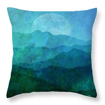 Moonlight Hills Throw Pillow