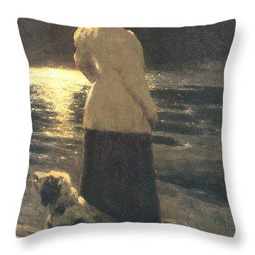 Moonlight Throw Pillow by Ilya Repin