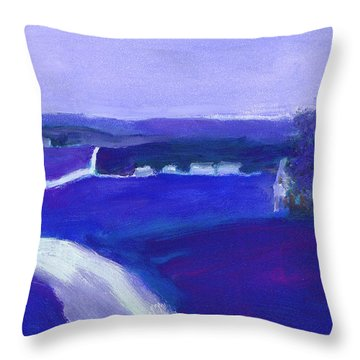 Moonlight In The Country Throw Pillow