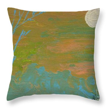 Moonlight In The Wild Throw Pillow
