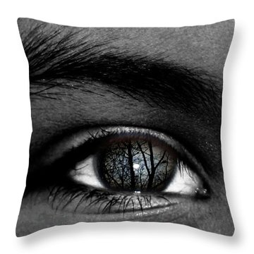 Moonlight In Your Eyes Throw Pillow