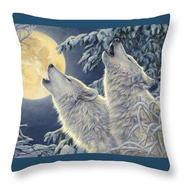 Moonlight Throw Pillow by Lucie Bilodeau