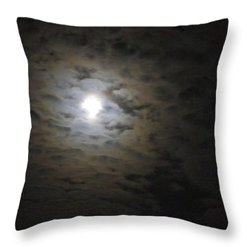 Throw Pillow featuring the photograph Moonlight by Marilyn Wilson