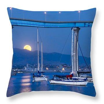 Moonlight Mooring Throw Pillow