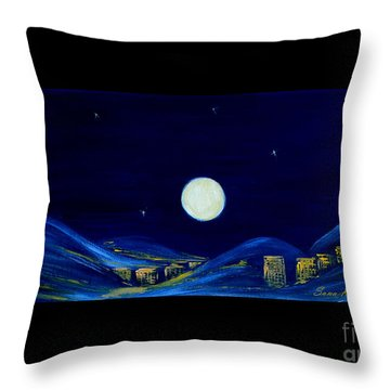 Moonlight. Winter Collection Throw Pillow