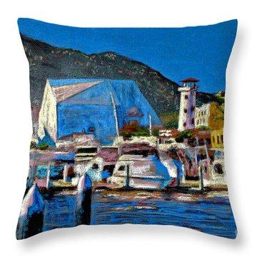 Moonlight On Marina Throw Pillow