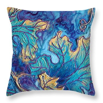 Moonlight On The Vine Throw Pillow