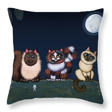 Moonlight On The Wall Throw Pillow