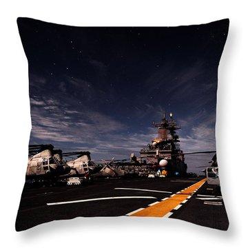 Moonlight Over The Essex Throw Pillow