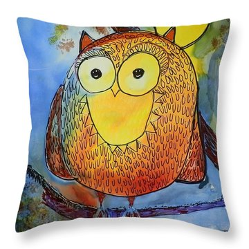 Moonlight Owl Throw Pillow