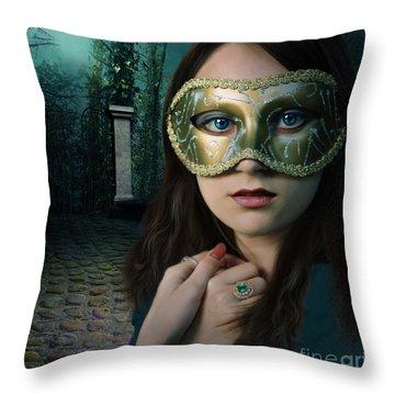 Moonlight Rendezvous Throw Pillow by Linda Lees