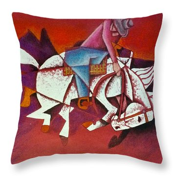 Moonlight Ride Throw Pillow
