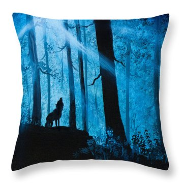 Moonlight Serenade Throw Pillow by C Steele