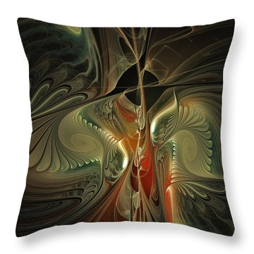 Moonlight Serenade Fractal Art Throw Pillow