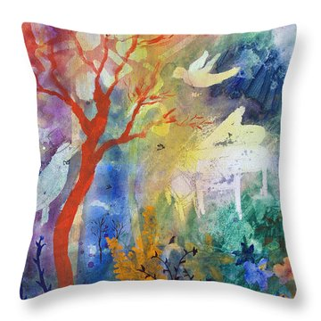 Throw Pillow featuring the painting Moonlight Serenade by Robin Maria Pedrero