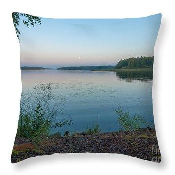Moonlight Water Throw Pillow