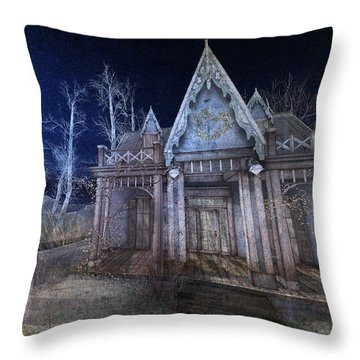 Moonlit Cape Cod Throw Pillow