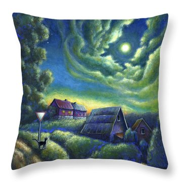 Moonlit Dreams Come True Throw Pillow by Retta Stephenson