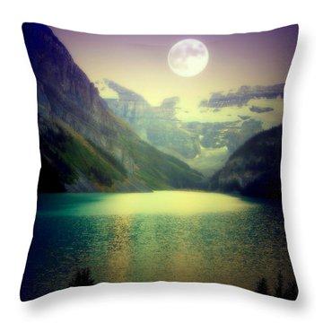 Moonlit Encounter Throw Pillow by Karen Wiles
