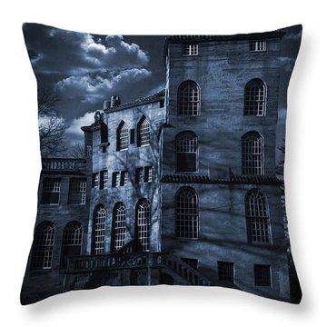 Moonlit Fonthill Throw Pillow