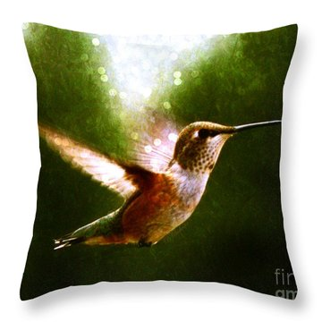 Moonlit Iridescence  Throw Pillow by Barbara Chichester