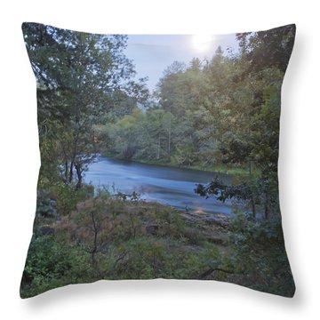 Moonlit River Throw Pillow by Belinda Greb