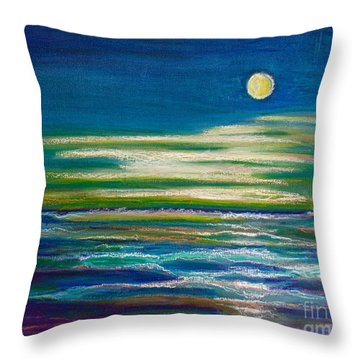 Moonlit Tide Throw Pillow