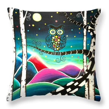 Moonlit View Throw Pillow
