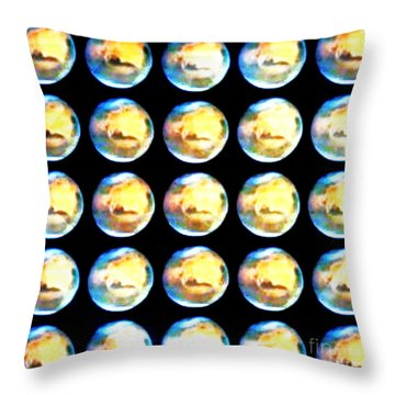 Moonmarbles Throw Pillow by PainterArtist FIN