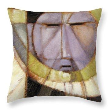 Moonmask Throw Pillow
