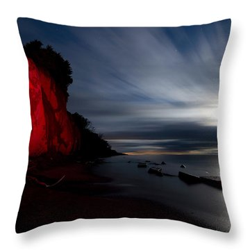 Moonrise At Clearville Beach Throw Pillow by Cale Best