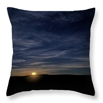 Throw Pillow featuring the photograph Moonrise In New Mexico by Martin Konopacki