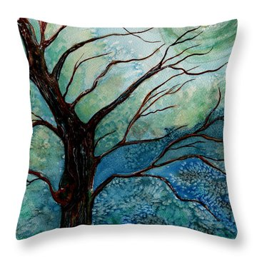 Moonrise In The Wild Night Throw Pillow