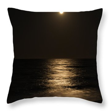 Moon Over Water Throw Pillow